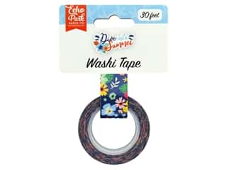 decorative floral: Echo Park Washi Tape Dive Into Summer - Aloha Floral