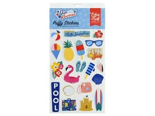scrapbooking & paper crafts: Echo Park Puffy Stickers Dive Into Summer