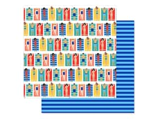 scrapbooking & paper crafts: Echo Park Collection Dive Into Summer Paper 12 in. x 12 in. Beach Loungers (25 pieces)