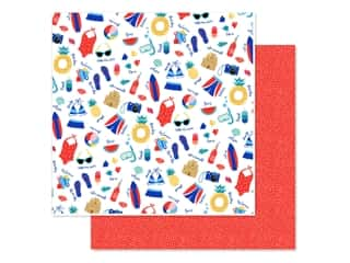 scrapbooking & paper crafts: Echo Park Collection Dive Into Summer Paper 12 in. x 12 in. Pool Time (25 pieces)
