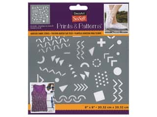 DecoArt Stencil SoSoft Fabric 8 in. x 8 in. 80s Doodles