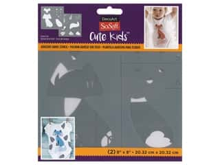 DecoArt Stencil SoSoft Fabric 8 in. x 8 in. Forest Fox 2 pc