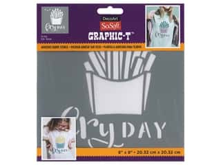 DecoArt Stencil SoSoft Fabric 8 in. x 8 in. Fry-Day