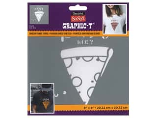 DecoArt Stencil SoSoft Fabric 8 in. x 8 in. Pizza Me