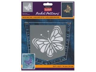 Quilt Stencils: DecoArt Stencil SoSoft Fabric 5.5 in. x 5.5 in. Whimsical Wing