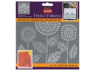 DecoArt Stencil SoSoft Fabric 8 in. x 8 in. Stitched Flower Bunch