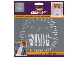 DecoArt Stencil SoSoft Fabric 8 in. x 8 in. Lookin' Sharp