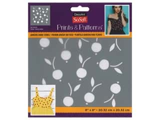 DecoArt Stencil SoSoft Fabric 8 in. x 8 in. Tart Cherries