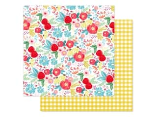 scrapbooking & paper crafts: Carta Bella Collection Summer Market Paper 12 in. x 12 in. Summer Day Floral (25 pieces)