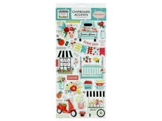 "Carta Bella Collection Summer Market Chipboard 6""x 12"" Accents"