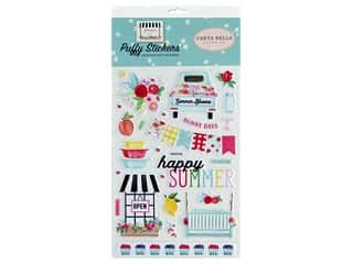 scrapbooking & paper crafts: Carta Bella Collection Summer Market Sticker Puffy