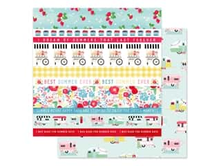 Carta Bella Collection Summer Market Paper 12 in. x 12 in. Border Strips (25 pieces)