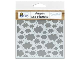 scrapbooking & paper crafts: Echo Park Collection Baby Boy Stencil Sweetest Clouds