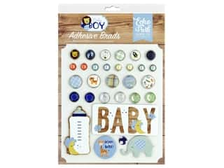 Echo Park Collection Baby Boy Adhesive Brads