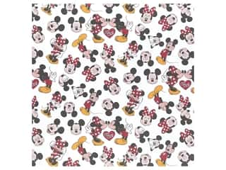 "EK Paper 12""x 12"" Mickey/Minnie White (25 pieces)"