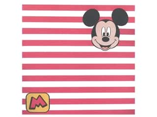 "EK Paper 12""x 12"" Mickey Red Stripe (25 pieces)"