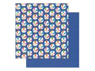 "scrapbooking & paper crafts: Pebbles Collection Sun & Fun Paper 12""x 12"" Ball Toss (25 pieces)"