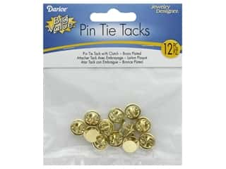 Darice Pin Tie Tack with Clutch Brass Plated 12pc