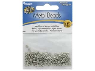 craft & hobbies: Darice Beads Spacer Bead 4mm Flower Bright Silver 135pc
