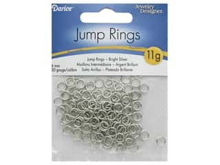 Darice Jump Rings 6mm Bright Silver 11gm