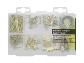 craft & hobbies: Hillman Picture Hanger Assortment 0.56lb Medium Brass