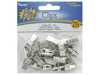 Darice Clips Dangler Nickel 21pc