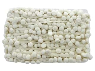 Trim: Cheep Trims Pom Pom Fringe 1 in. Ivory (18 yards)