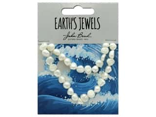 John Bead Freshwater Pearls Fancy Shape 8mm White