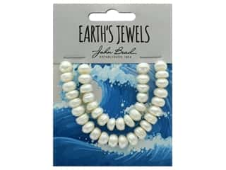 John Bead Freshwater Pearls Semi Round Shape 8-9mm White