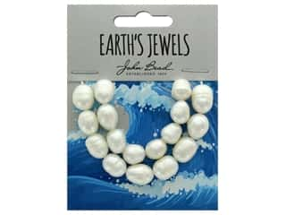 John Bead Freshwater Pearls Rice Shape 10-12mm White