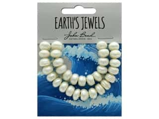 John Bead Freshwater Pearls Semi Round Shape 10-12mm White