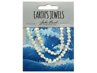 beading & jewelry making supplies: John Bead Freshwater Pearls Fancy Shape 4.5mm White