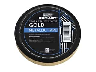 "Pro Art Tape Metallic .5""x 36yd Gold"