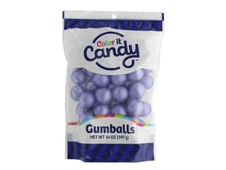 Color It Candy Gumballs 14oz Stand Up Bag Shimmer Lavender