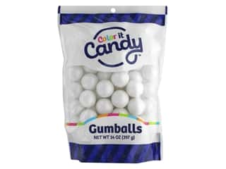 Color It Candy Gumballs 14oz Stand Up Bag Shimmer White