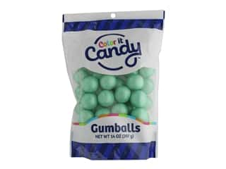Color It Candy Gumballs 14oz Stand Up Bag Shimmer Turquoise