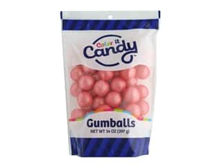 Color It Candy Gumballs 14oz Stand Up Bag Shimmer Coral