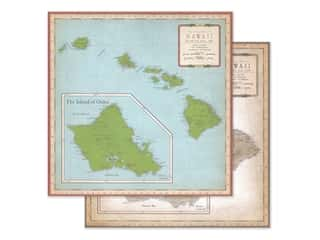"Carta Bella Cartography #1 Paper 12""x 12"" Hawaii Map (25 pieces)"