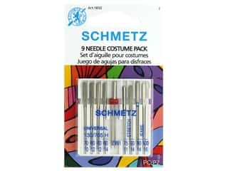 Schmetz Machine Needle Pack Assorted Costume 9pc