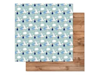 "Echo Park Collection Baby Boy Paper 12""x 12"" Welcome Baby Boy (25 pieces)"