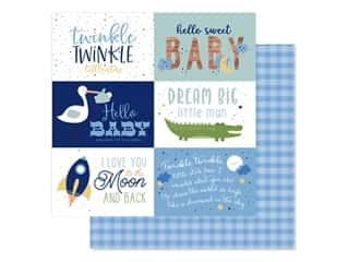 "Echo Park Collection Baby Boy Paper 12""x 12"" Journaling Cards 6""x 4"" (25 pieces)"