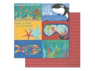 "scrapbooking & paper crafts: Photo Play Collection Fish Tales Paper 12""x 12"" Showtime (25 pieces)"