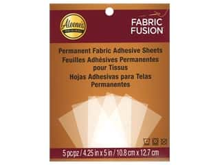 glues, adhesives & tapes: Aleene's Fabric Fusion Peel and Stick Sheets 5 pc.