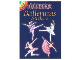 Dover Publications Little Glitter Ballerinas Stickers Book
