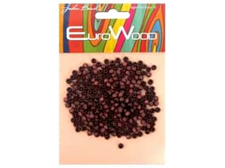 beading & jewelry making supplies: John Bead Wood Bead Round 4mm Mahogany