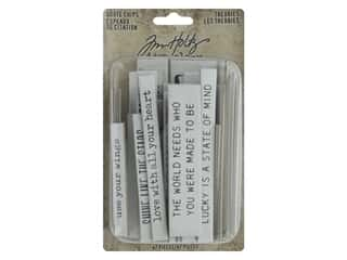 Tim Holtz Idea-ology Quote Chips Theories