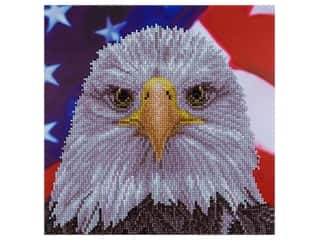 "Diamond Art Kit 12""x 12"" Intermediate Bald Eagle"