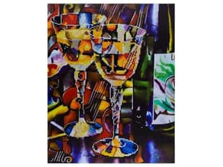 "craft & hobbies: Diamond Art Kit 14""x 16"" Advanced Abstract Wine"