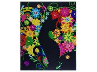 "Diamond Art Kit 14""x 16"" Advanced Black Cat Floral"
