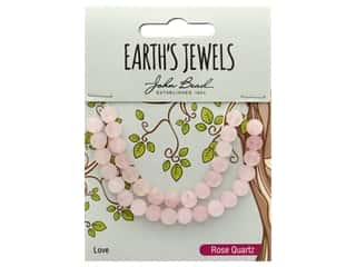John Bead Semi Precious Bead Earth's Jewels Rose Quartz 6mm Round Matte 8""